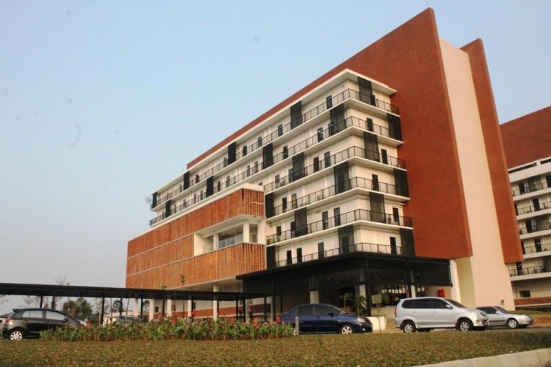 Gedung Kampus III UNIKA Atma Jaya di BSD City, Kabupaten Tangerang (Foto:Metrotvnews.com/Pelangi Karismakristi)