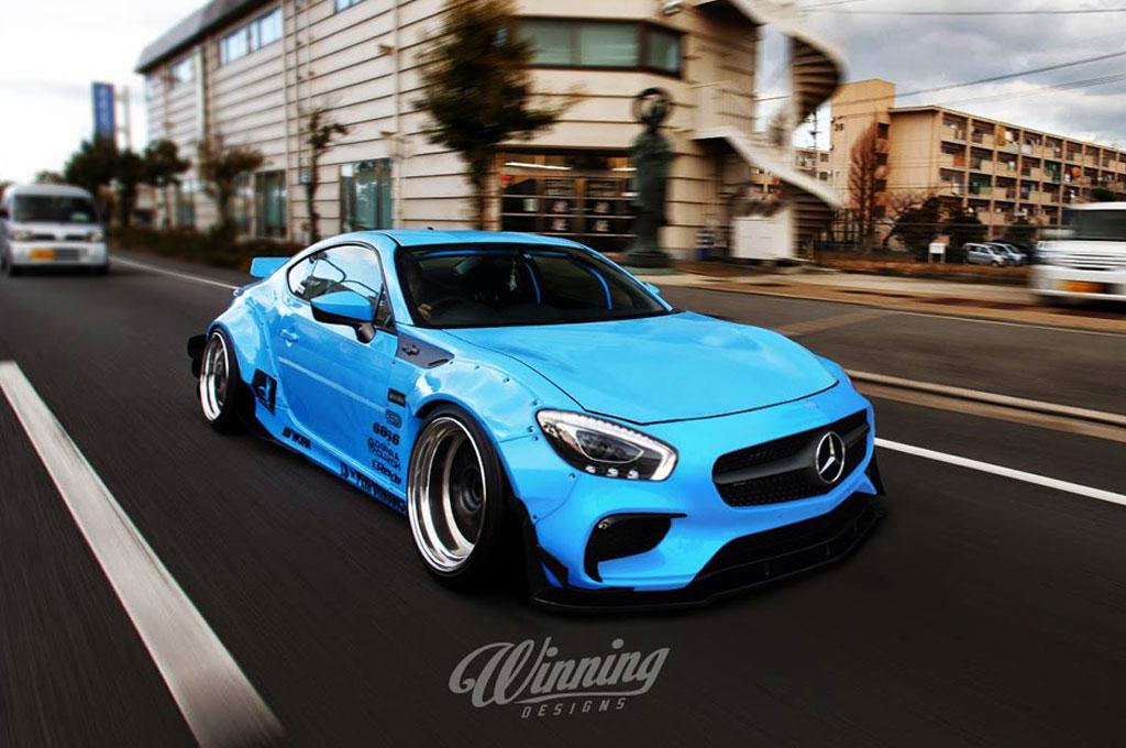 Gambar di atas terinspirasi dari penggabungan elemen desain 86 dan Mercedes-ANG GT S. Winning Designs
