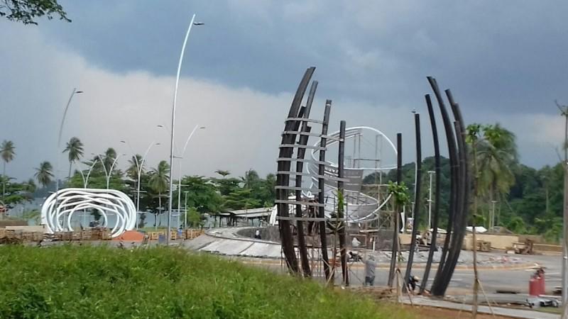 Beberapa pekerjaan pembangunan Nuvasa Bay Batam yang sudah dimulai. (FOTO: MTVN/Anwar Sadat)