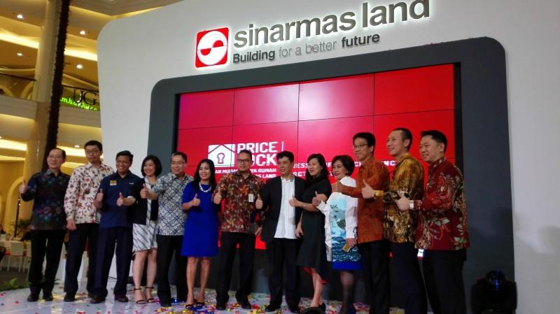Peluncuran program Price Lock Sinar Mas Land. Foto: Metrotvnews.com/Pelangi Karismakristi