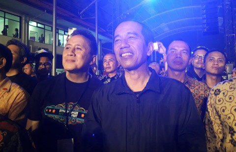 Jokowi Bermalam Minggu di Synchronize Festival 2017