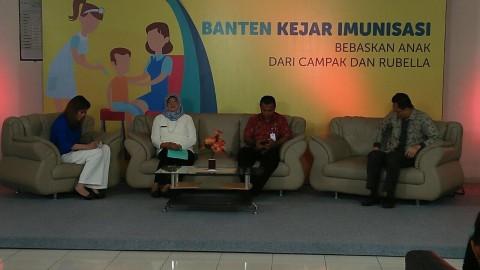 Imunisasi Vaksin MR di Banten Rendah