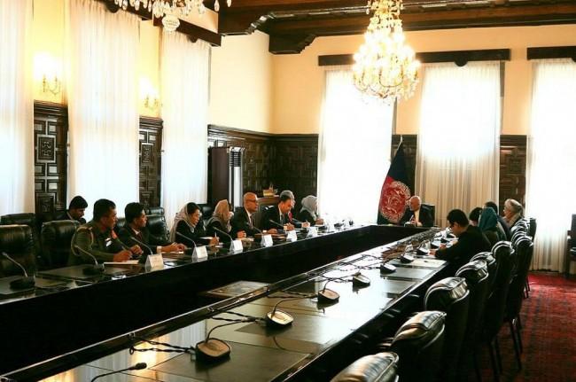 Indonesian Foreign Minister Retno Marsudi meets with Afghan President Ashraf Abdul Ghani on Monday, November 6, 2017. (Photo:MoFA)