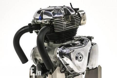 Mesin Royal Enfield Kini Bermesin Dua Silinder Segaris 650 cc
