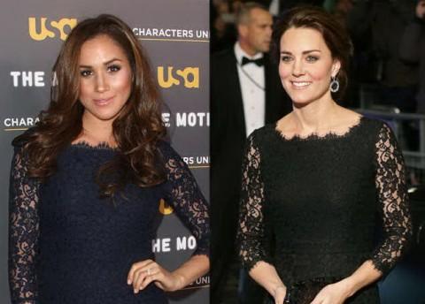 Gaun 'Kembar' yang Dipakai Kate Middleton dan Meghan Markle Laris Manis