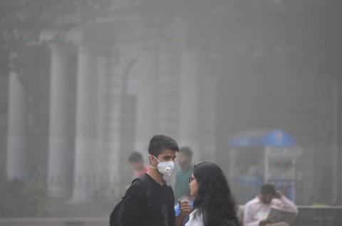 Ratusan Siswa di India Demo Soal Kebersihan Udara