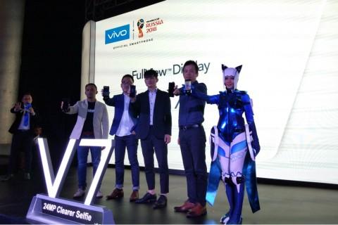 Vivo Resmi Umumkan Kehadiran Vivo V7 di Indonesia