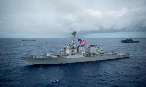 Latihan Gabungan Kapal Perang AS Ditabrak di Lepas Pantai Jepang