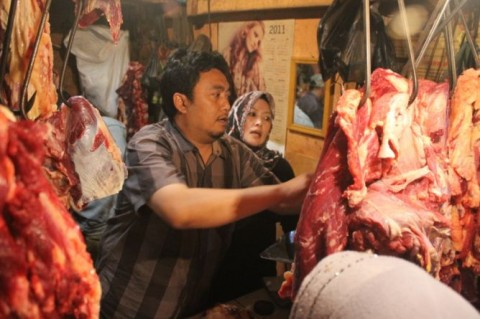 Harga Daging Sapi di Bandarlampung Bertahan Tinggi