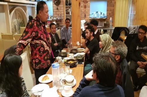 Pertemuan Menristek Dikti RI dengan mahasiswa asal Indonesia di