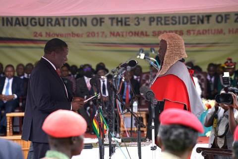 Mnangagwa Sworn in as Zimbabwe President