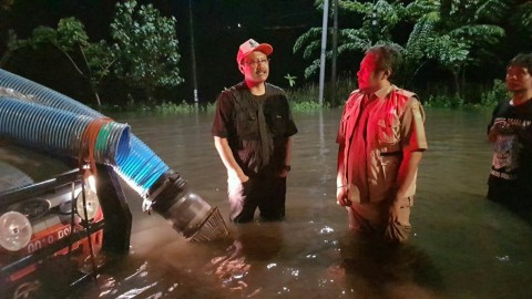 Banjir Porong Dibuang ke Tanggul Lumpur Sidoarjo