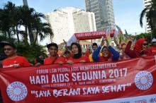 Peringatan Hari AIDS Sedunia Digelar di Bundaran HI