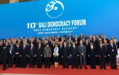 Menlu Retno Harapkan Demokrasi Bisa Tersalurkan Lewat BDF ke-10