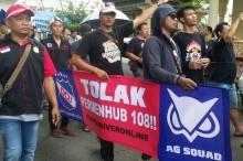 Ojek Daring DIY Libur 24 Jam Protes Permenhub 108/2017