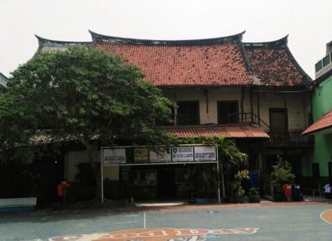 Kondisi Bangunan Cagar Budaya di SMAN 32 Sebelum Roboh
