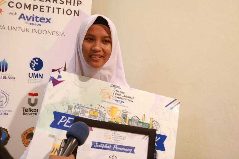 Ota Devy Purnamawati, peserta terbaik OSC with Avitex 2017 (Foto: Anindya Legia Putri)