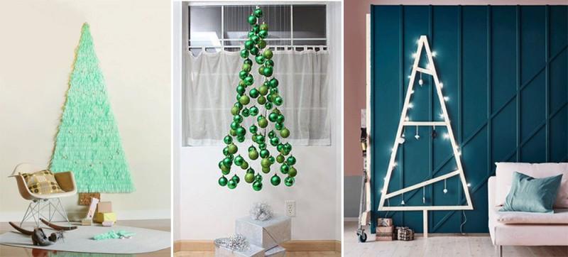 Pohon Natal sederhana ini bisa Anda buat dengan menggunakan barang-barang di rumah. elledecor.com
