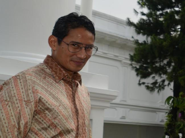 Wakil Gubernur DKI Jakarta Sandiaga Uno. Foto: Rosa Panggabean/Antara