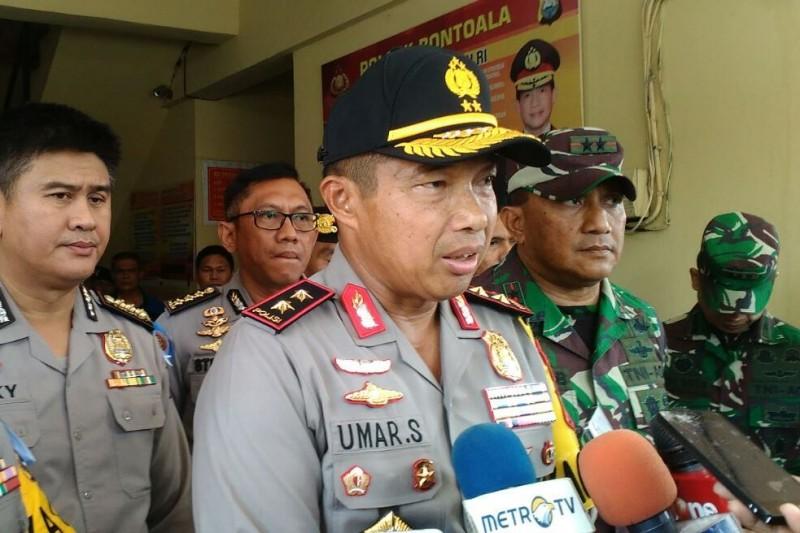 Kapolda Sulsel Irjen Umar Septono saat mengunjungi Kantor Polsek Bontoala Makassar. Foto: Medcom.id/Andi Aan Pranata