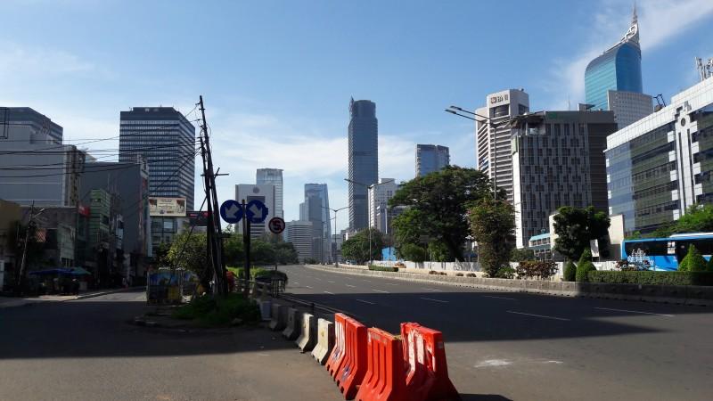 Suasana jalanan di Ibu Kota yang tampak bersih pasca-perayaan malam tahun baru/Medcom.id/Yusrin Zata Lini