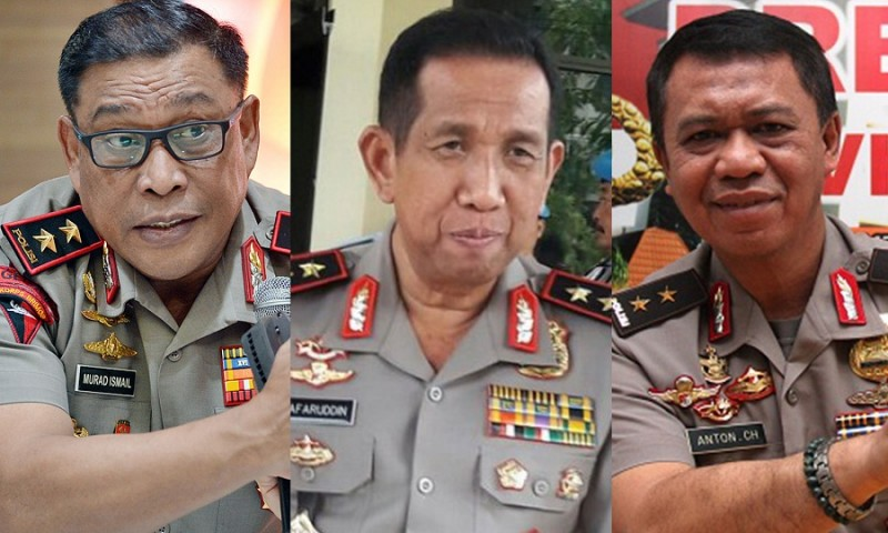 Irjen Pol. Murad Ismail, Irjen Pol. Safaruddin, Irjen Pol. Anton Charliyan.