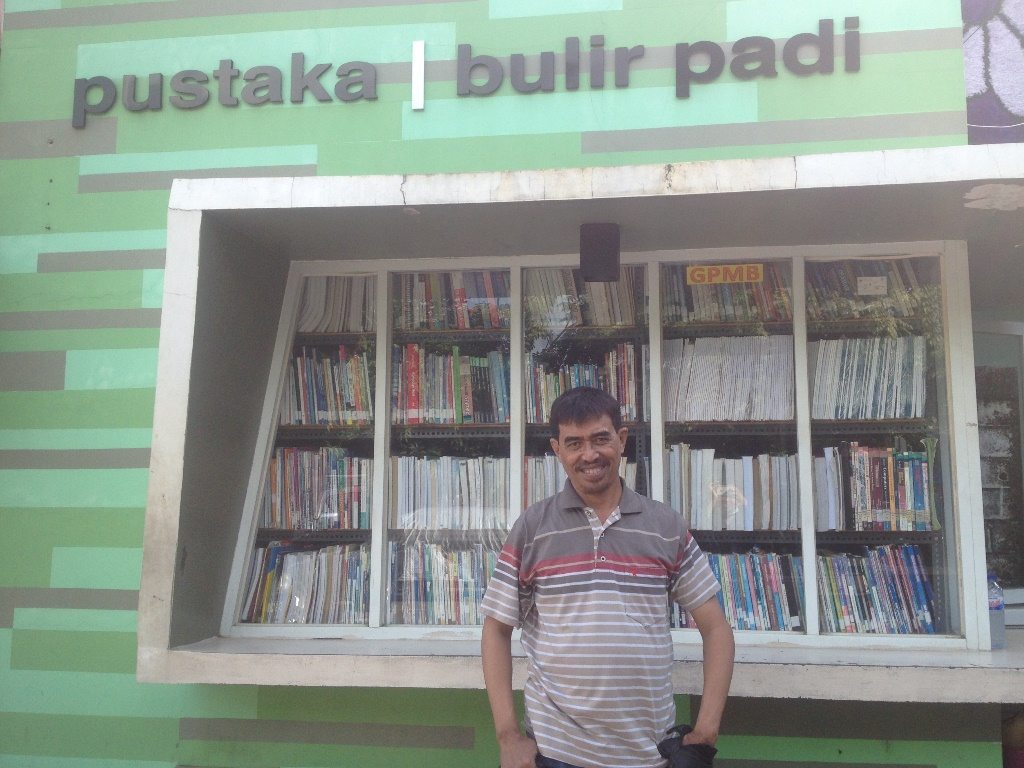 Naufal, pencetus Pustaka Bulir Padi. (Foto: Medcom.id/Inten Suhartien).