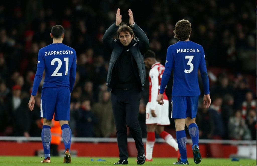 Antonio Conte usai laga kontra Arsenal (Foto: twitter Chelsea)