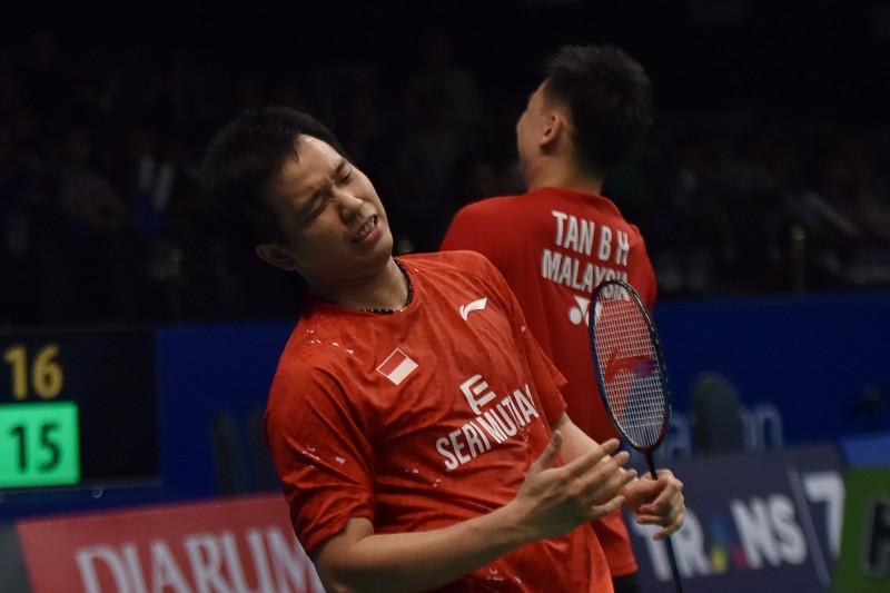 Hendra Setiawan saat berpasangan dengan pemain Malaysia Tan Boon Heong-Antara/Wahyu Putro A