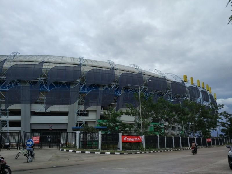 Salah satu sudut Stadion Gelora Bandung Lautan Api (MI/SUGENG SUMARIYADI)