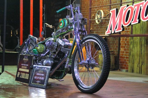 Custom bike yang bakal diboyong ke kontes modifikasi dunia di