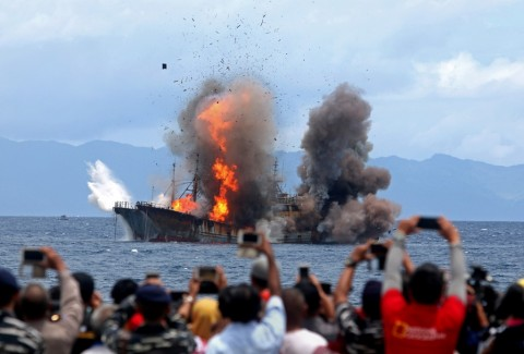 KKP Terbanyak Tenggelamkan Kapal <i>Ilegal Fishing</i> dari Vietnam