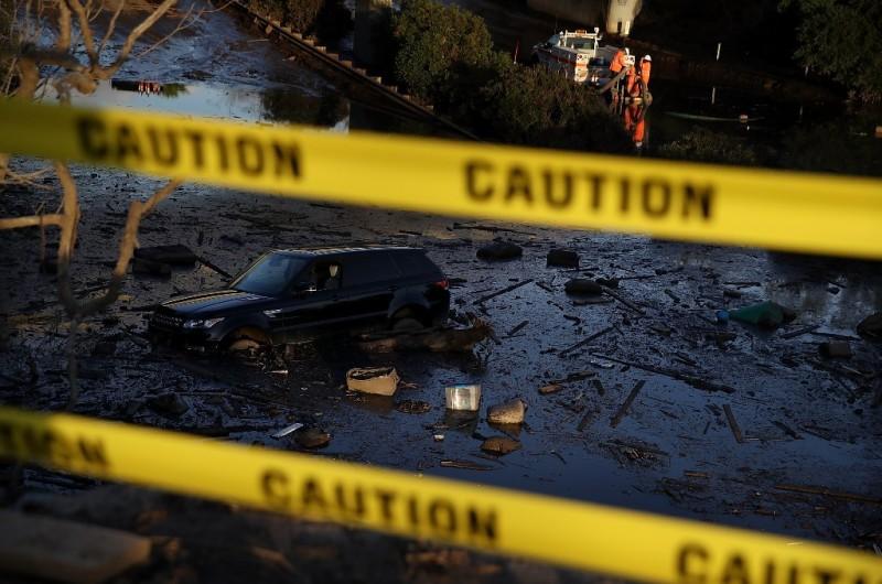 Longsor lumpur yang melanda California (Foto: AFP).