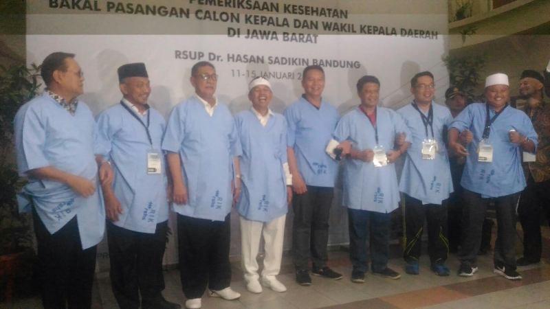 4 Paslon Pilgub Jabar usa menjalani Tes Kesehatan di Rumah Sakit Hasan Sadikin (RSHS) Bandung, Kamis 11 Januari 2018. Medcom.id/Roni