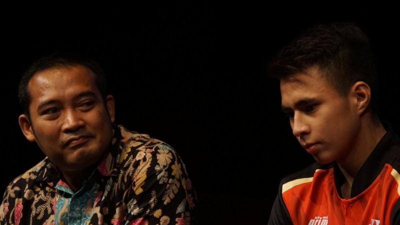 Pelatih Luluk Hadianto (kiri) dan Ikhsan Rumbay (kanan). (Foto: Medcom.id/Kautsar Halim)