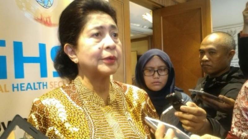Menteri Kesehatan Nila F Moeloek. Foto: Medcom.id/Patricia Vicka
