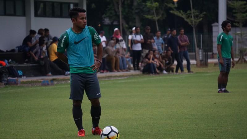 Andik Vermansyah saat mengikuti sesi latihan Timnas Indonesia jelang laga kontra Islandia (Foto: medcom.id/Kautsar Halim)