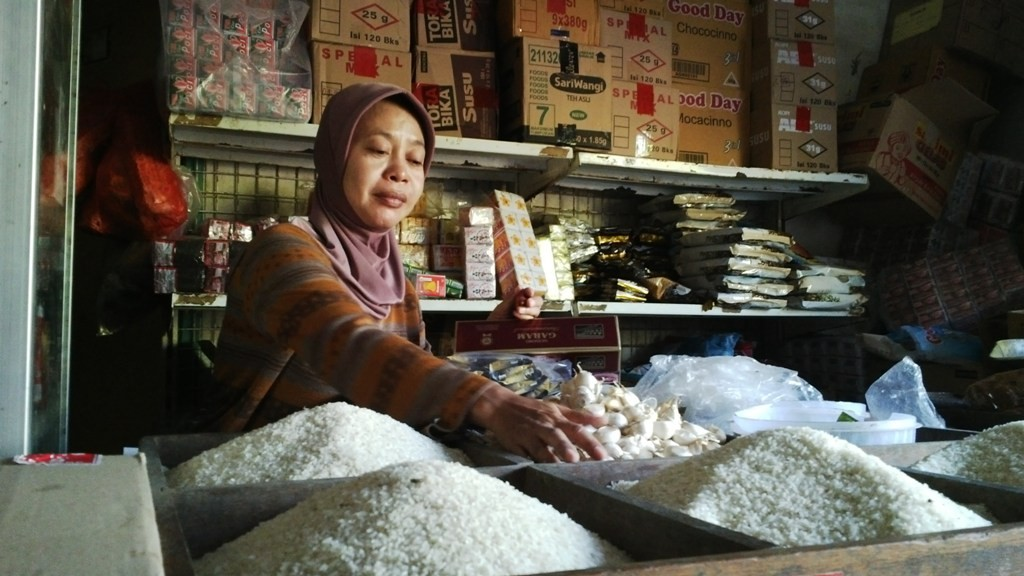 Ilustrasi pedagang beras. (FOTO: Medcom.id)