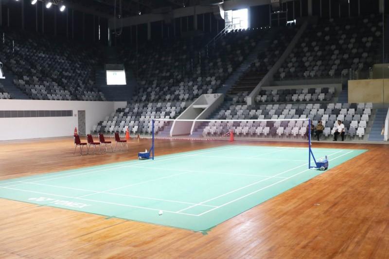 Persiapan Istora sudah mencapai 95 persen jelang Indonesia Masters 2018. (Foto: PBSI)