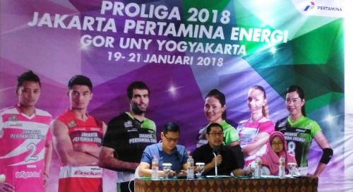 Jumpa pers putaran 1 Proliga 2018 di Yogyakarta, Jumat 11