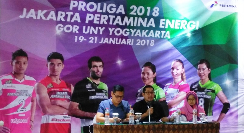 Jumpa pers putaran 1 Proliga 2018 di Yogyakarta, Jumat 11 Januari 2018-Medcom.id/Vicka