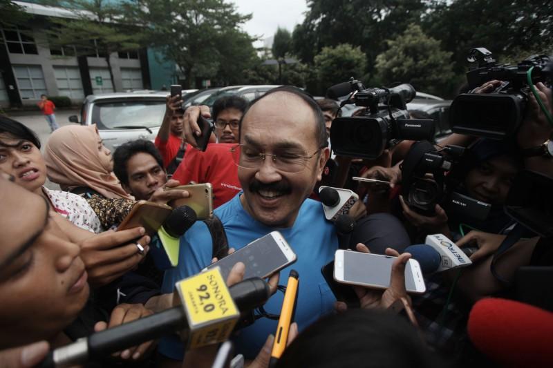 Mantan pengacara Setya Novanto Fredrich Yunadi. Foto: MI/Arya Manggala