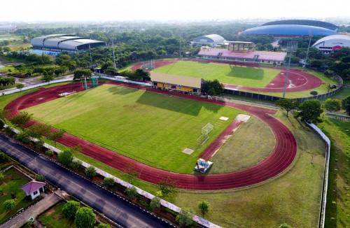 Salah satu lapangan atletik di komplek Jakabaring Sport City,