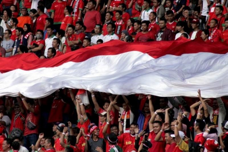 Suporter Timnas Indonesia. (Foto: Antara/ Yulius Satria Wijaya)