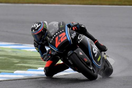 Francesco Bagnaia saat menggeber motornya di Motegi, Jepang.