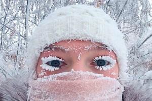 Suhu -62 Derajat Celcius di Desa Rusia Bekukan Bulu Mata