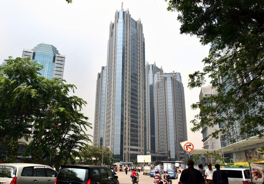 Dua menara Gedung Bursa Efek Indonesia, SCBD, Jl Sudirman, Senayan, Jakarta. dok/MI/Adam/Saleh