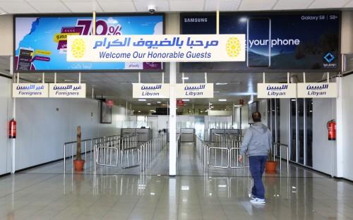 Bandara Mitiga di Tripoli ditutup akibat adanya bentrokan.