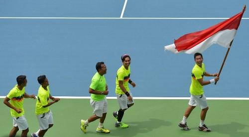 Tim Piala Davis Indonesia 2017 (Foto: Antara)
