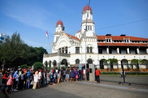 Lawang sewu di Semarang. Antara Foto/Harviyan Perdana